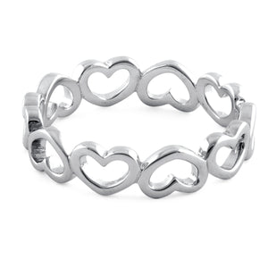 Sterling Silver Multiple Heart Ring