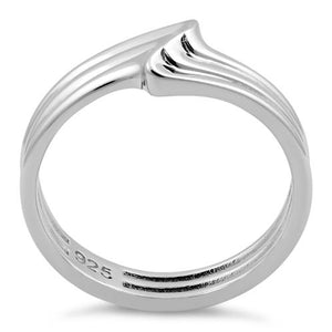 Sterling Silver Multiple  Small Wave Ring