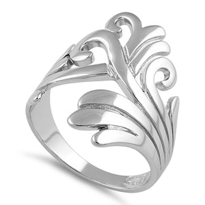 Sterling Silver Multiple Waves Ring