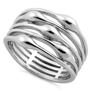 Sterling Silver Mutli-Row Statement Ring