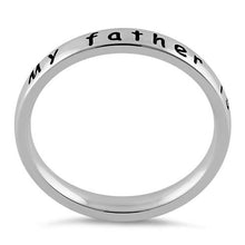 "Load image into Gallery viewer, Sterling Silver ""My father is my hero"" Ring"