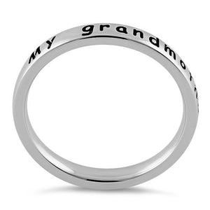 "Sterling Silver ""My grandmother is my angel"" Ring"