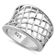 Load image into Gallery viewer, Sterling Silver Net Ring