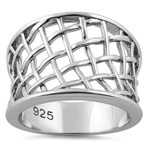 Sterling Silver Net Ring