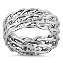 Load image into Gallery viewer, Sterling Silver Net Weaving Ring
