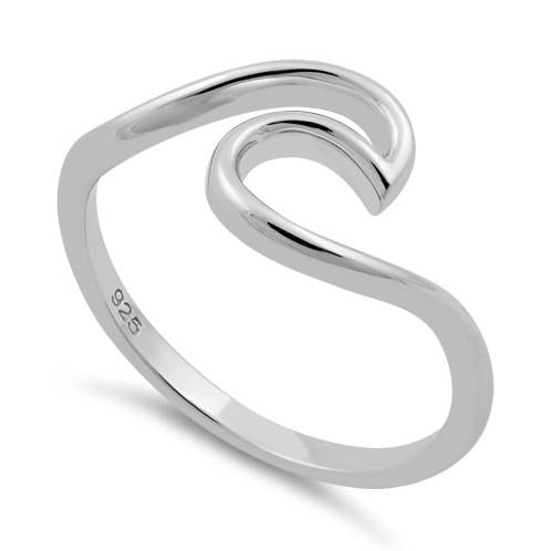 Sterling Silver Ocean Wave Ring