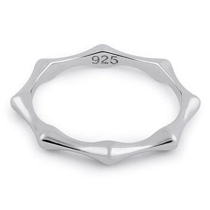 Sterling Silver Octagon Bone Ring