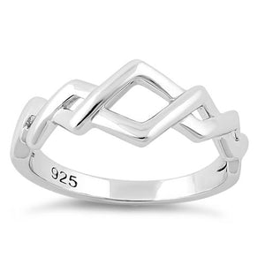 Sterling Silver Opposing Zig Zags Ring