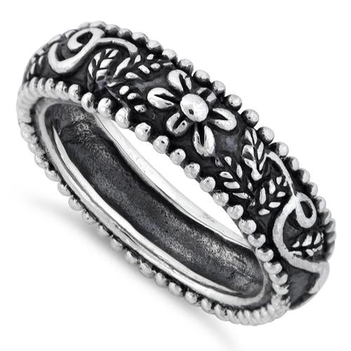 Sterling Silver Ornaments Band Ring