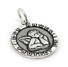 Sterling Silver Our Angel Protect Us Pendant
