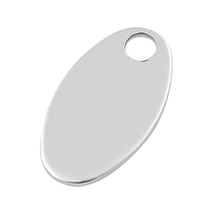 Sterling Silver Oval Name Tag - Pack of 2