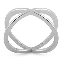 Load image into Gallery viewer, Sterling Silver Overlapping X Ring