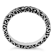 Load image into Gallery viewer, Sterling Silver Oxidized Bali Band Ring