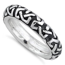 Load image into Gallery viewer, Sterling Silver Oxidized Celtic Ring