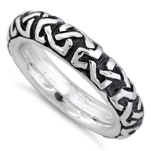 Sterling Silver Oxidized Celtic Ring
