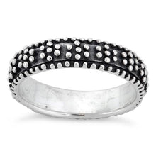 Load image into Gallery viewer, Sterling Silver Oxidized Dots Eternity Ring