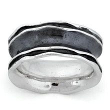 Load image into Gallery viewer, Sterling Silver Oxidized Wavy Thick Ring