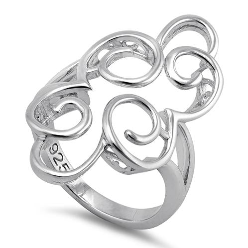 Sterling Silver Pattern Swirl Ring