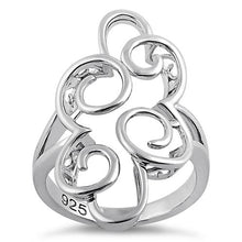 Load image into Gallery viewer, Sterling Silver Pattern Swirl Ring