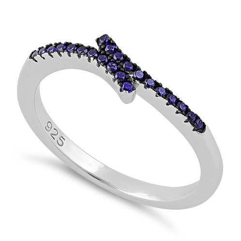 Sterling Silver Amethyst CZ Ring