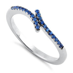 Sterling Silver Blue CZ Ring