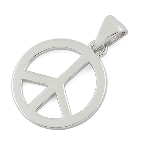 Sterling Silver Peace Pendant