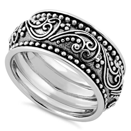 Sterling Silver Peaceful Paisley Ring