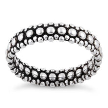 Load image into Gallery viewer, Sterling Silver Pebbles Stackable Ring