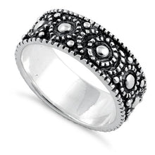 Load image into Gallery viewer, Sterling Silver Peebles Oxidized Ring