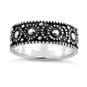 Sterling Silver Peebles Oxidized Ring