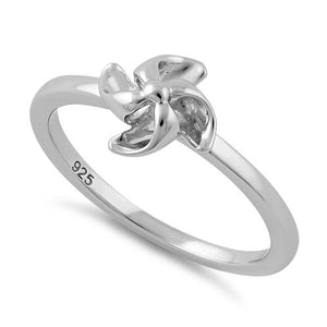 Sterling Silver Pinwheel Flower Ring
