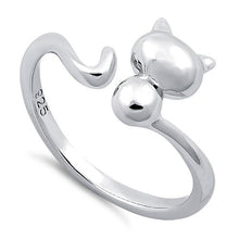 Load image into Gallery viewer, Sterling Silver Plain Cat Ring