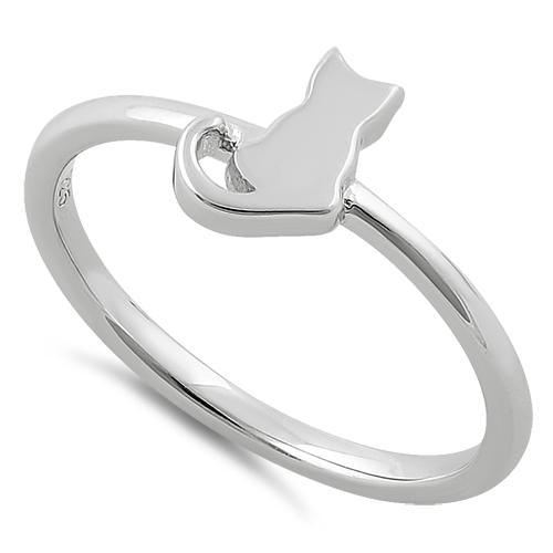 Sterling Silver Plain Cat Ring