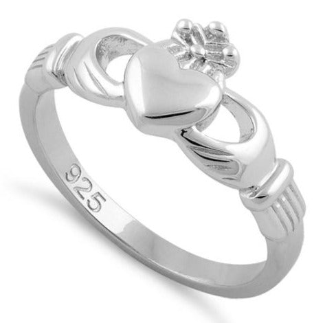 Sterling Silver Plain Claddagh Ring