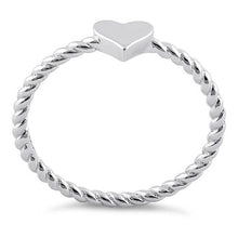 Load image into Gallery viewer, Sterling Silver Plain Heart Ring