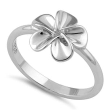 Load image into Gallery viewer, Sterling Silver Plumeria Flower Ring