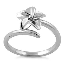 Load image into Gallery viewer, Sterling Silver Plumeria Ring
