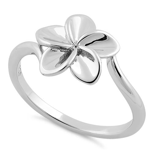 Sterling Silver Plumeria Ring