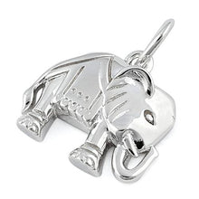 Load image into Gallery viewer, Sterling Silver  Powerful Elephant Pendant