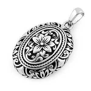 Sterling Silver Powerful Flower Pendant