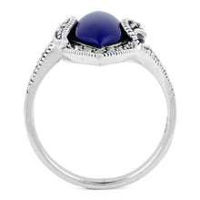 Load image into Gallery viewer, Sterling Silver Blue Lapis Marquise Marcasite Ring