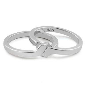 Sterling Silver Puzzle Band Ring