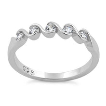 Load image into Gallery viewer, Sterling Silver Quintuple Clear CZ Ring