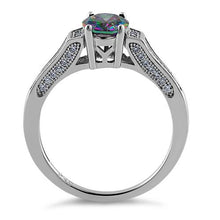 Load image into Gallery viewer, Sterling Silver Rainbow Oval Cut CZ Ring