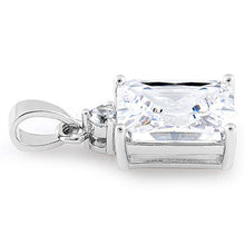 Load image into Gallery viewer, Sterling Silver Rectangular Clear CZ Pendant