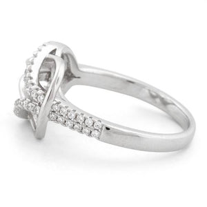Sterling Silver Reef Knot CZ Ring