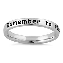 "Load image into Gallery viewer, Sterling Silver ""Remember to stop and smell the roses"" Ring"