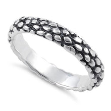 Load image into Gallery viewer, Sterling Silver Reptile Skin Band Ring