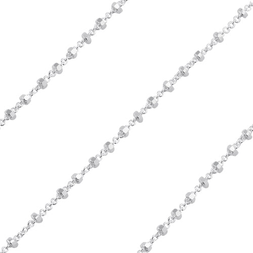 Sterling Silver Rollo Chain 1.5mm (sold by the foot)