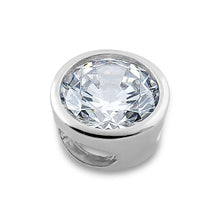 Load image into Gallery viewer, Sterling Silver Round CZ Pendant